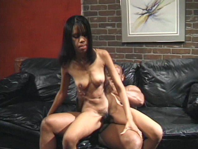 Ebony Couple In a Dark Room Fucking on an