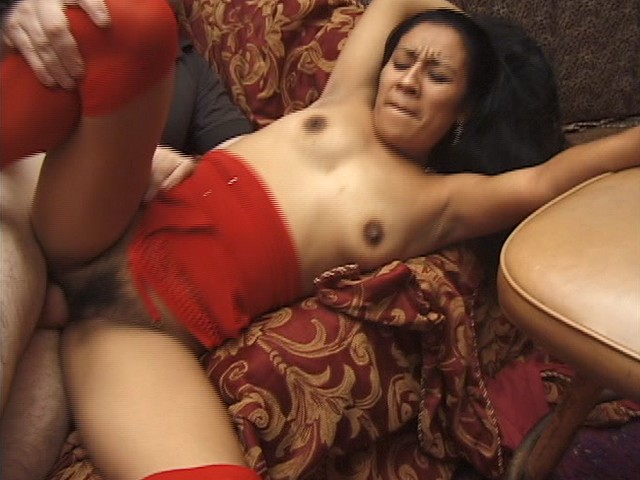 Latin Brunette with Hairy Beaver Gets Some