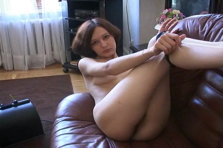 Lonely Russian Teen Plays with Fucking